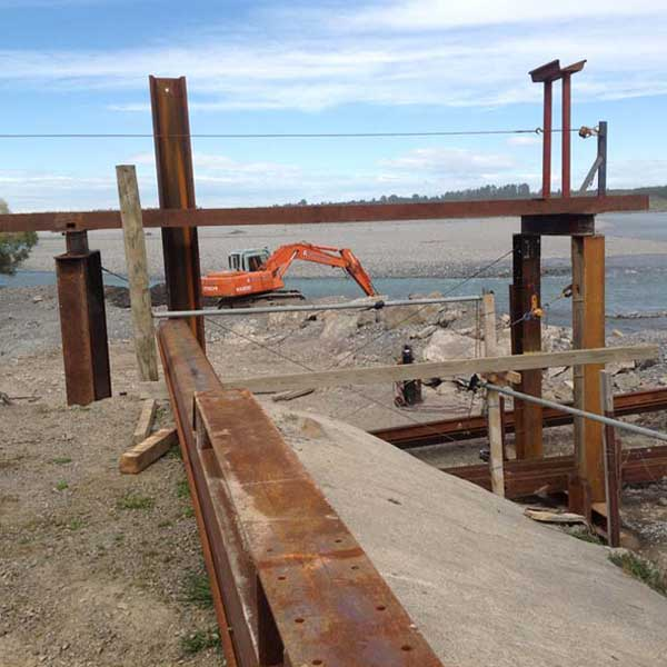 Browns Rock Intake Pages Curletts Road projects. Welding of structural piles web works industrial welders christchurch nz02