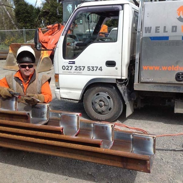 Browns Rock Intake Pages Curletts Road projects. Welding of structural piles web works industrial welders christchurch nz06