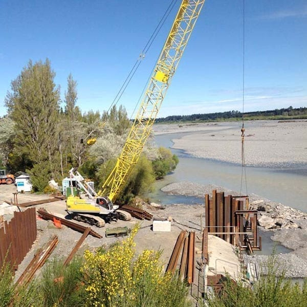 Browns Rock Intake Pages Curletts Road projects. Welding of structural piles web works industrial welders christchurch nz09